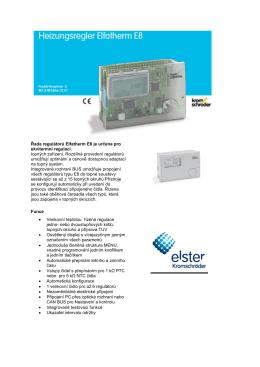 Řada regulátorů Elfatherm E8 je určena pro ekvitermní