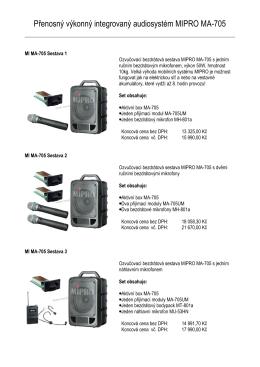 Přenosný výkonný integrovaný audiosystém MIPRO MA-705
