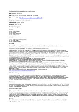 Propozice a pravidla rybářské závody betafish rybník Svěcený