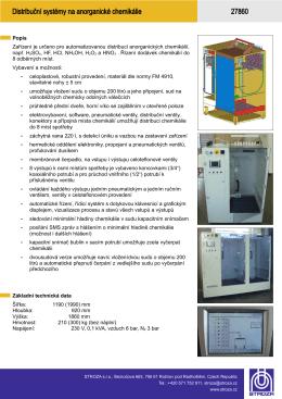 27860_C13 Distribuční systém na chemikálie