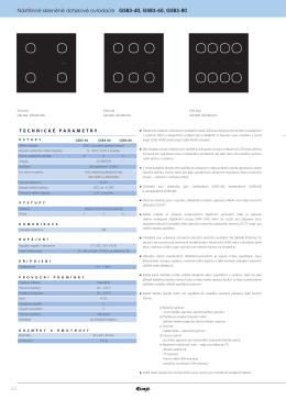 Nástěnné skleněné dotykové ovladače GSB3-40