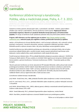Konference Léčebné konopí a kanabinoidy: Politika