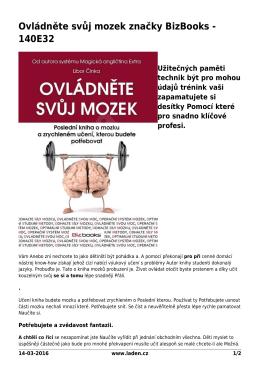 Ovládněte svůj mozek značky BizBooks - 140E32 - Šetříme