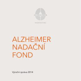 Výroční zpráva 2014 - Alzheimer Nadační fond