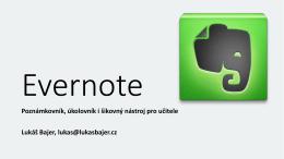 Dílny ICT metodiků - Využití programu Evernote
