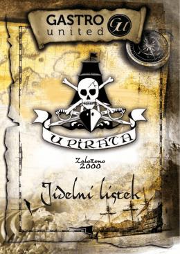 Jídelní lístek restaurace U Piráta