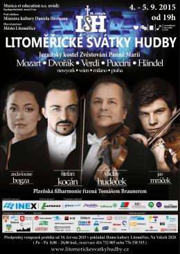 Pozvánka na Litoměřické svátky hudby - galerie