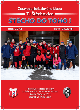 ŠTĚCHO DO TOHO ! - FK TJ Štěchovice