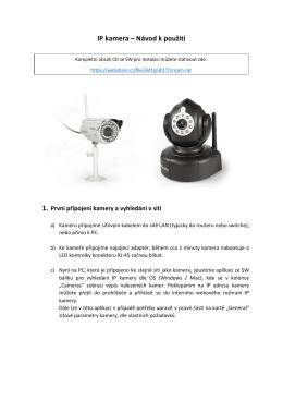 IP kamera – Návod k použití