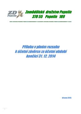 Příloha k účetní závěrce 2014