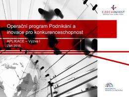 Operační program Podnikání a inovace pro