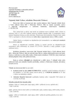 Vojenské stravovací zařízení VSŠ Moravská Třebová