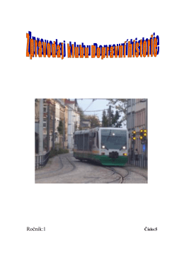 5. číslo - Klub dopravní historie