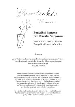 Bene  iční koncert pro Terezku Vargovou
