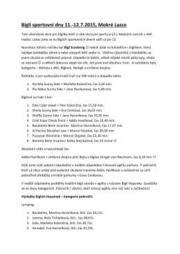 Bíglí sportovní dny 11.-12.7.2015, Mokré Lazce