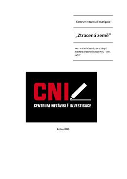 Ztracená země – případová studie CNI