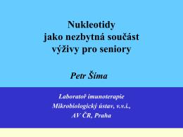 Nukleotidy jako nezbytná součást výživy pro seniory