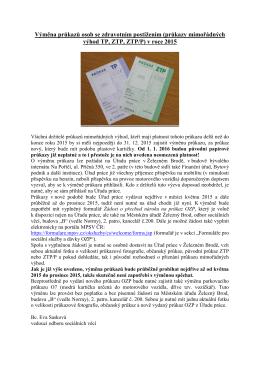 Výměna průkazů osob se zdravotním postižením (průkazy