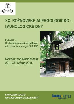 XX. ROŽNOVSKÉ ALERGOLOGICKO