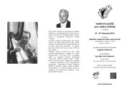 HARFOVÁ SOUTĚŽ prof. KARLA PATRASE