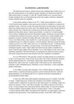 SK HODKOVICE – oddíl NOHEJBAL