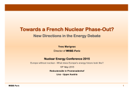 France - Nuclear Energy Conference 2015