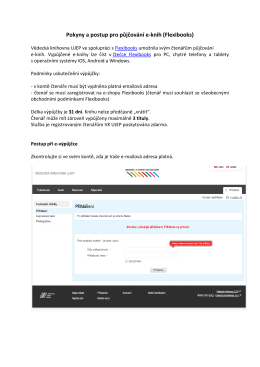 Pokyny a postup pro půjčování e-knih (Flexibooks)