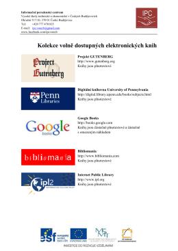 Volně dostupné elektronické knihy