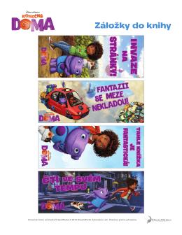 Záložky do knihy - DreamWorks Animation