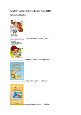 Nové knihy ve školní knihovně (březen
