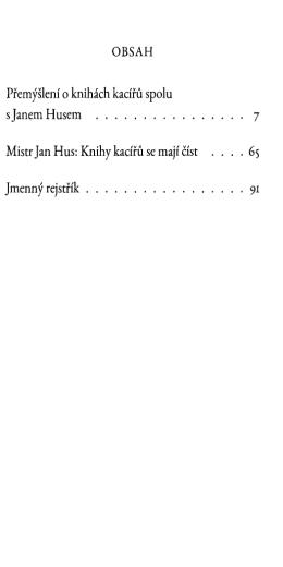 Knihy kacířů se mají číst. Mistr Jan Hus