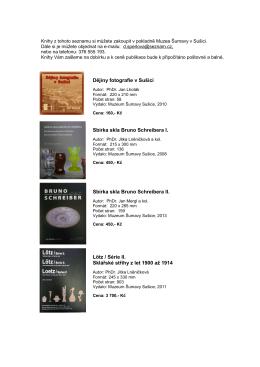 knihy na web - Muzeum Šumavy Sušice