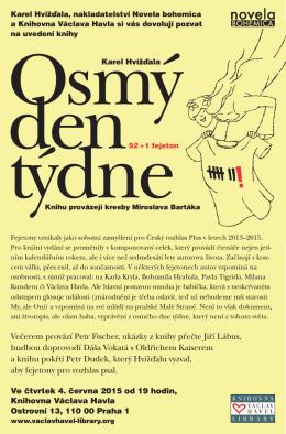 Večerem provází Petr Fischer, ukázky z knihy přečte Jiří Lábus