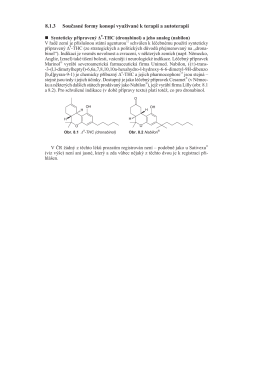 (dronabinol) a jeho analog (nabilon)