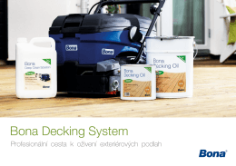 Brožura Bona Decking System