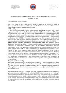 Prohlášení Výboru ČPFS k současné situaci s očkováním polskou