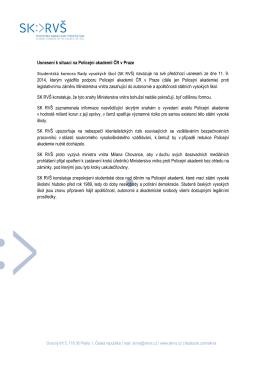 Usnesení k situaci na Policejní akademii ČR v Praze Studentská