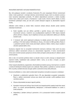 Prohlášení senátorů k aktuální migrační situaci_13