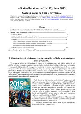 """""""О aktuální situaci"""" č.1 (117), únor 2015: Světová válka se"""