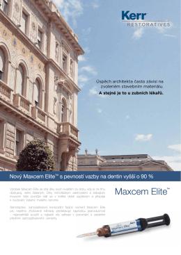 Nový Maxcem Elite™ s pevností vazby na dentin vyšší o 90 %
