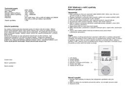 R181 Wattmetr a měřič spotřeby Návod k použití
