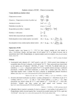 Sedmé cvičení z FCH2 – Fázové rovnováhy