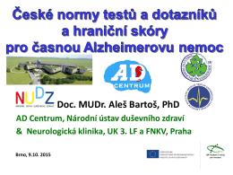 Aleš Bartoš - sekce kognitivní neurologie