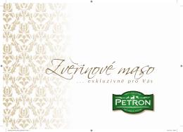 Katalog Zvěřinové maso Petron 2015