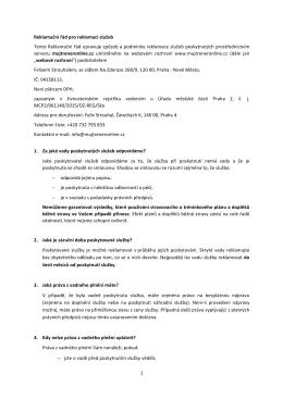 Reklamační řád - Mujtreneronline.cz