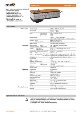 Technický list ARF24-SR-S (-O)