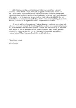 Vážení spoluobčané,p Anderle odstoupil z důvodu nesouhlasu o