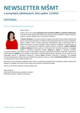 NEWSLETTER MSMT o evropskych zalezitostech_2015_c