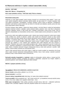 6.5 Rámcová směrnice č. 6 péče o nelesní stanoviště a druhy