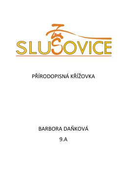 PŘÍRODOPISNÁ KŘÍŽOVKA BARBORA DAŇKOVÁ 9.A